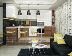 Сочетание цветов в интерьере кухни — действуем по правилам