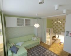 Дизайн однокомнатной квартиры с детской. Сама себе дизайнер