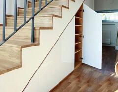 Делаем шкаф под лестницей своими руками: идеи и рекомендации