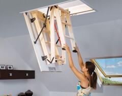 Раскладные чердачные лестницы: особенности и преимущества