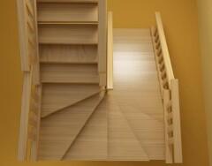 Расчет лестницы с поворотом на 90 и 180 градусов через забежные ступени
