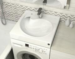 Раковины поверх стиральной машины: экономим пространство