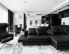 Элегантный черно-белый интерьер