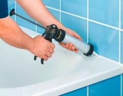 Как сделать красивый силиконовый шов в ванной