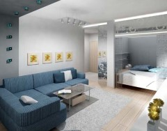 Дизайн однокомнатной квартиры с нишей — возможные варианты