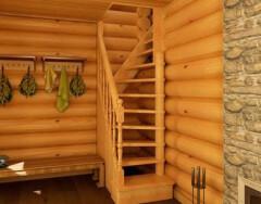 Выбираем лестницу для бани: рекомендации специалистов