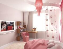 Интерьер для детской комнаты девочки