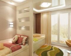 Интерьер детской комнаты для двоих детей: разделение или объединение?