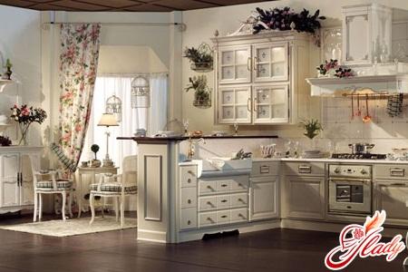 современные кухни в стиле прованс