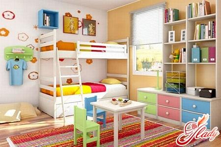 дизайн и организация пространства детской комнаты для двоих детей