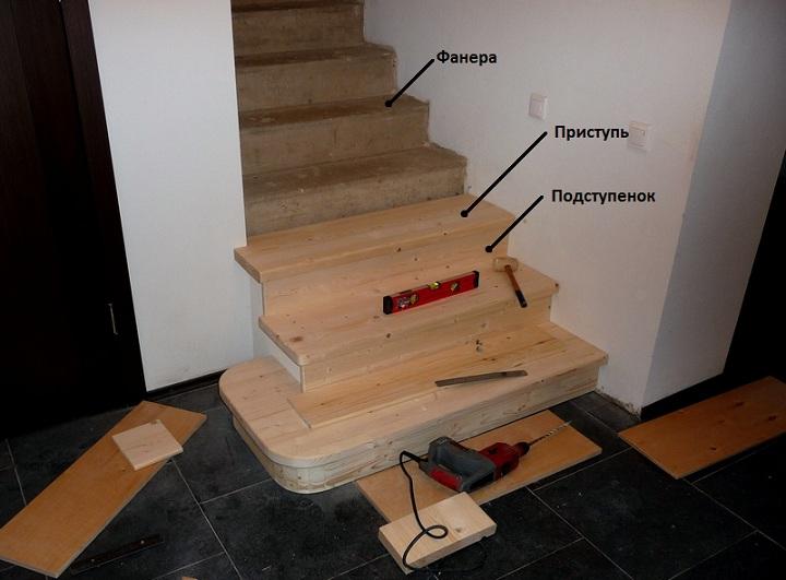 Как обшить лестницу своими руками фото 355
