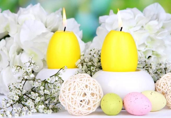 Свечи в форме яиц