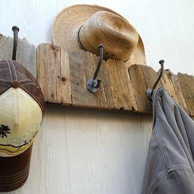 Salvaged Wood Coat Rack
