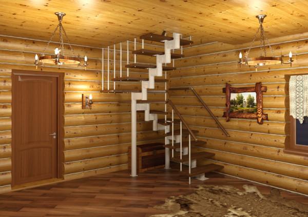 Модульная лестница занимает минимум места