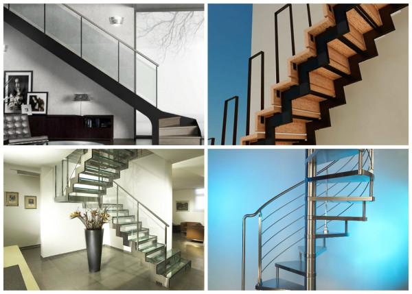 Типы металлических лестниц