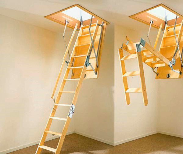 Раскладная чердачная лестница