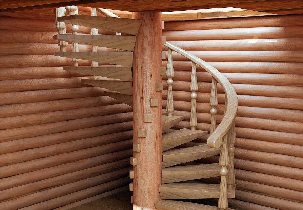Винтовая лестница фото своими руками