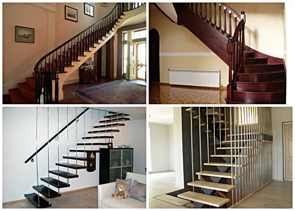 Разновидности лестниц в частном доме