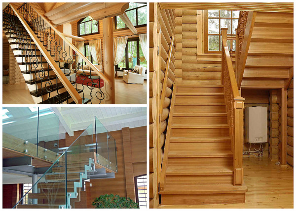 Разновидности лестниц в загородном доме